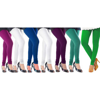 Cotton Lycra Multicolor Leggings - Pack Of 7 (CRL24)