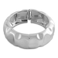 Young & Forever  Silver Cuff Kada Bracelet For Women By CrazeeMania