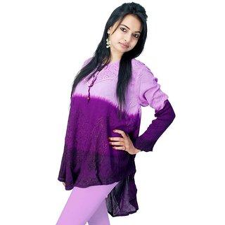 Vihaan Impex Multi Rayon Crepe Handmade Handloom Designer Tunic