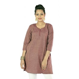 Vihaan Impex Solar Bronze Indian Pure Cotton Ethnic Ladies Kurti