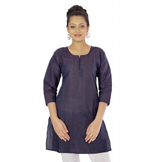 Vihaan Impex Dark Purple Indian Pure Cotton Ethnic Ladies Kurti