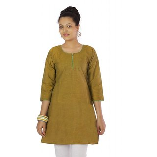Vihaan Impex Gold Indian Pure Cotton Ethnic Ladies Kurti