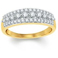 Pure Gold Jewellers 18kt Yellow Gold Eternity Ring With 42pcs Of 0.52cts Diamonds