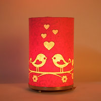 Craftter Round Love Bird Pink Table Lamp