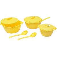 ASP Polyplast Microwave Safe Serving Bowls 9 Pcs Set (Yellow)