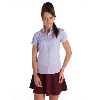 Bombay High Cotton Blue Red Slim Shirt