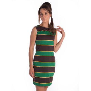 Bombay High Cotton Polyester Brown Regular Dress