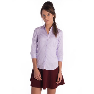 Bombay High Cotton Violet Slim Shirt