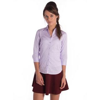Bombay High Cotton Violet Slim Shirt