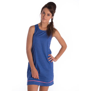 Co.In Cotton Blue Comfort Fit Dress