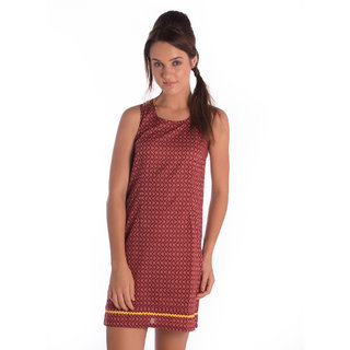 Co.In Cotton Brown Comfort Fit Dress