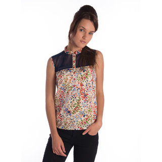 Co.In Cotton Blue Regular Top