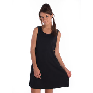 Bombay High Cotton Black Comfort Fit Dress