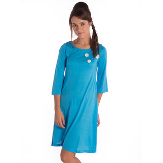 Bombay High Modal Mail Blue Regular Dress