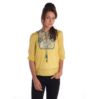 Co.In Cotton Green Comfort Fit Top