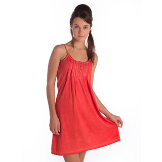 Bombay High Cotton Scarlet Red Comfort Fit Dress