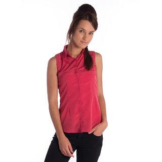 Bombay High Polytser Pink Half Sleeves Slim Shirt