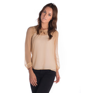 Vanity Collection Polyester Brown Slim Top