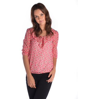 Co.In Cotton Red Regular Top