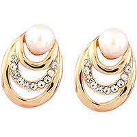 Young & Forever Elegant Pearl Earrings For Women By Crazeemania