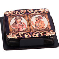 Jodha Akbar  Wooden Tea Coaster (Set  Pack Of 6)