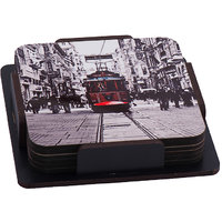 Rail Gadi Wooden Tea Coaster (Set Pack Of 6)