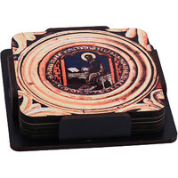 Study Time  Wooden Tea Coaster (Set Pack Of 6)