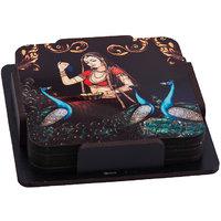 Umrao Jaan  Wooden Tea Coaster Set (Pack Of 6)