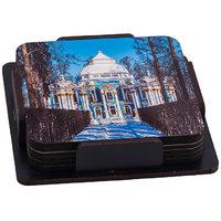 Mahal Wooden Tea Coaster (Set Pack Of 6)