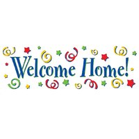 Welcome Home Door  Vinyl Home Decor PVC Wall Sticker ( PVC Plastic Sticker , 61 Cm X 20 Cm)