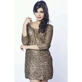 SONALI RAUT. BB8 Sequin Dress Long Sleeve Backless Bodycon Party Dress