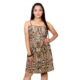 Jiwan Printed Polyester Short Dress