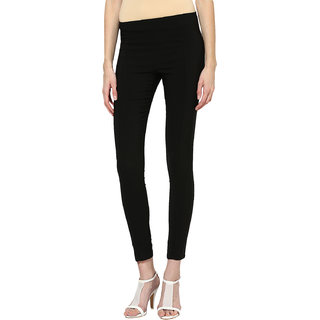Prakum Women Black Skinny Fit Trousers