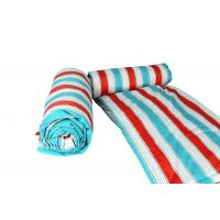 Just Linen Set Of 2 Cotton Percale Pink, Blue And White Stripes Single Ac Comforters