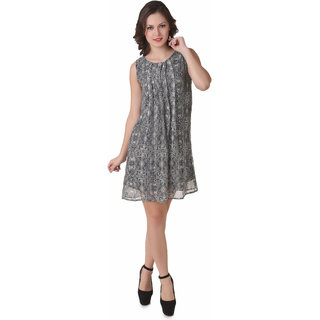 NOD Laura Black Printed Dress