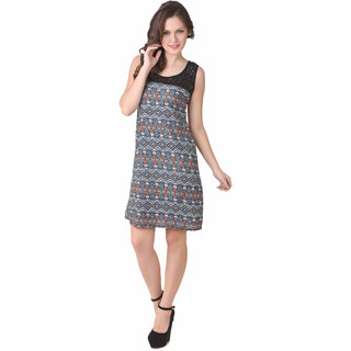 NOD Pamela Blue & Orange Amulet Net Dress