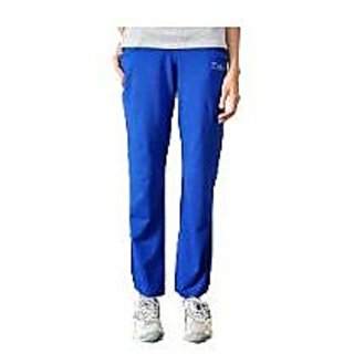 Vastra Blue Cotton Lycra Regular Trackpant