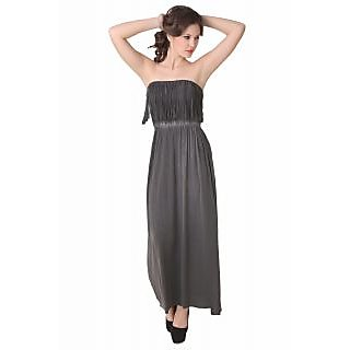 NOD Nora Charcoal Black Maxi Dress