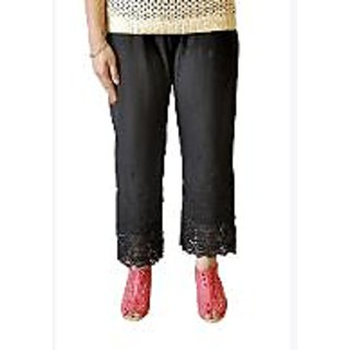 Vastra Black Cotton Without Stretch Trousers