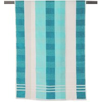 Blue & White Cotton Bath Towel