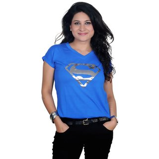 Golden Couture Super-Girl Blue Top
