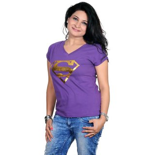 Golden Couture Super-Girl Purple Top