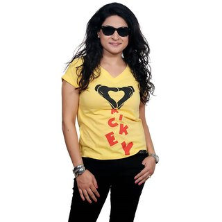 Golden Couture Super-Girl Yellow Top