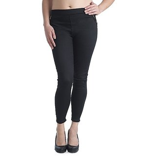 Hot Black Treggings New Jeggings Zip Leggings With Pocket Western Wear Daily Fun