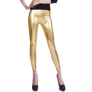 High Fashioned Gold Mettalic Leggings