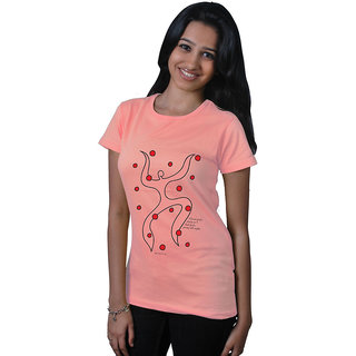 Long Tees Bad Girls Burnt Coral For Women