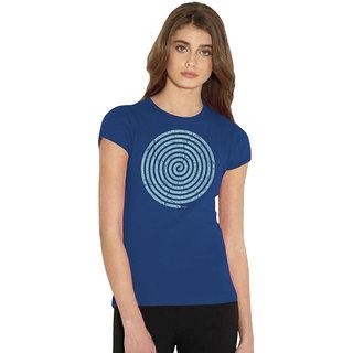 Long Tees Swirl -2 - 0313 - Royal Blue For Women