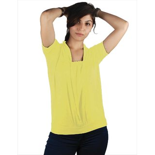 Western Top Angelina Yellow For Women