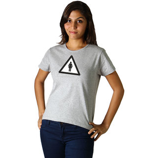 Regular Tees Woman Logo (TW) Grey Melange For Women