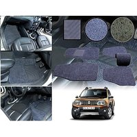 Premium Quality 2D Fabric Car Mats With PVC Coating For Renault Duster - Grey
